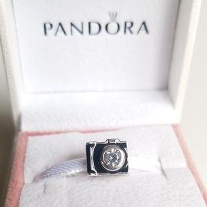 Pandora Camera Sentimental Snapshots Charm, CZ